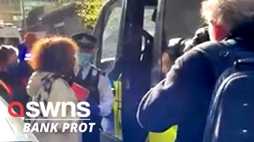 Extinction Rebellion Canary Wharf window smashing protest 'will cost £160,000 to repair' (RAW)