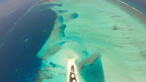 Adrenaline Seeker Skydives Over Maldives