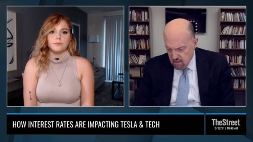 Jim Cramer: What Interest Rates Means for Tesla, Tech Stocks