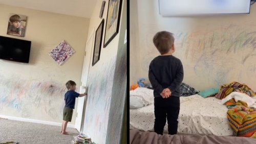 Parents Let Autistic Son Express Himself By Drawing On Walls