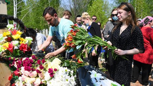 Mourners attend funeral of teacher killed in Kazan shooting