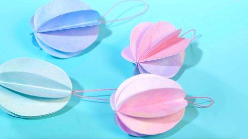 DIY Easter Paper Egg Ornaments