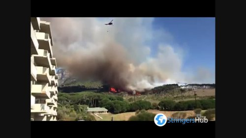 Mountain Fire Erupts In Cape Town, South Africa