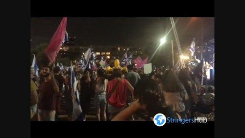 People in Tel Aviv, Israel celebrate end of Netanyahu era 1