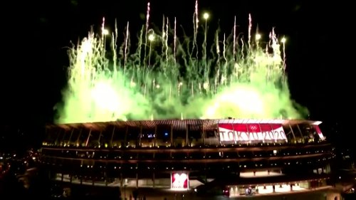 Tokyo marks Olympics opening ceremony with fireworks