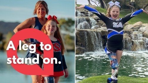 This 11-year-old who had her leg amputated when she was an infant, is now headed towards the cheerleading Olympics (RAW)