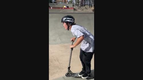 Kid Pulls Off Insane Backflip on Scooter