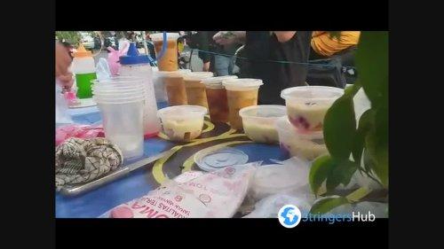 Residents buy Snacks to Break their fast in Bendungan Hilir, Jakarta Indonesia