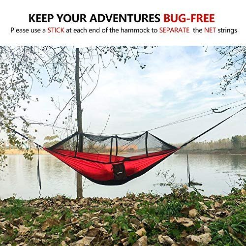 41% savings on a camping hammock with a mosquito net