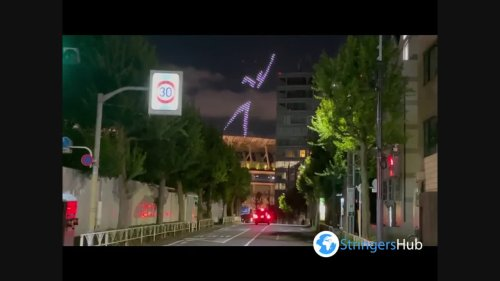 Tokyo Olympics: Animated Sport Pictograms Drone Show