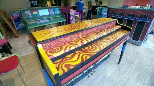 Artists transform pianos into artwork for interactive public display