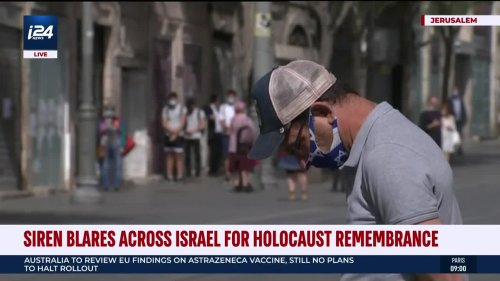 Sirens Wail Across Israel in Honor of Holocaust Remembrance Day