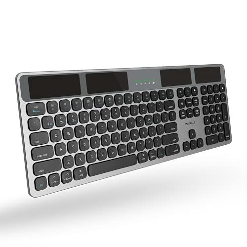 Wireless solar keyboard with Bluetooth capabilities
