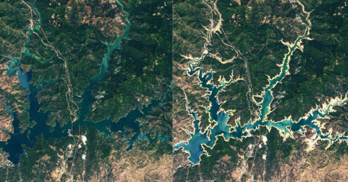 Devastating impact of California's mega-drought: See the before-and-after photos