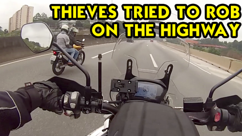 'Attempted Robbery of Triumph Tiger 800 Leads to High-Speed Chase on a Highway in Brazil'