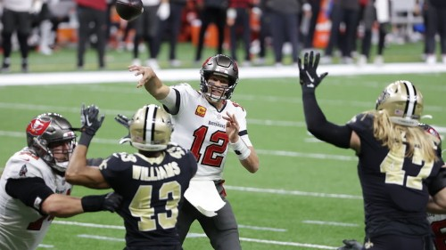 Tom Brady Leads the Buccaneers to the NFC Championship Game, Beat Saints 30-20