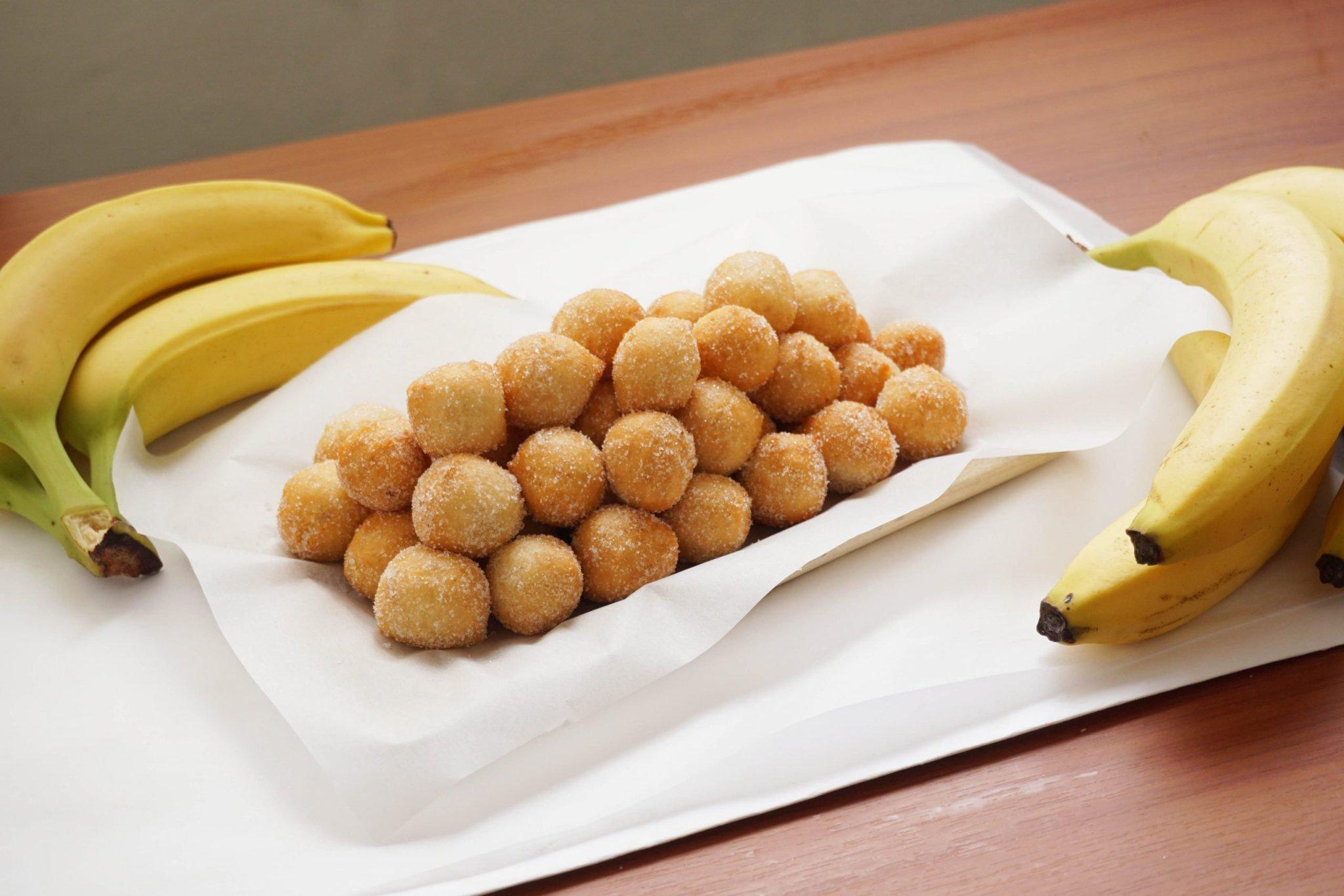 Mmmm...10-Minute Banana Bread Donuts