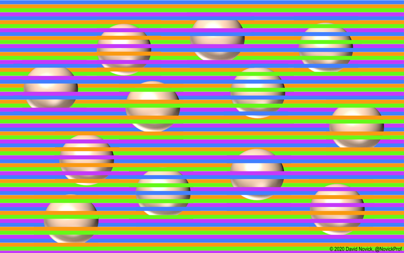 This wild illusion tricks your brain into seeing colors that aren't there