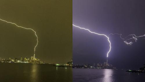 'MONSTROUS lightning strikes One World Trade Center (9/13/2021)'