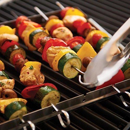 Stainless steel barbecue skewer set