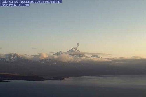 3 erupting Alaska volcanoes spitting lava or ash clouds