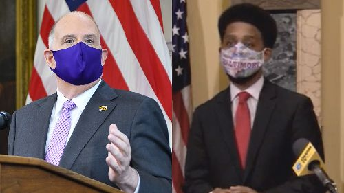 Maryland Gov. Hogan and Baltimore Mayor Scott disagree over vaccine distribution | VIDEO