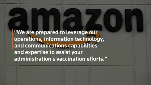 Amazon offers to help Biden with vaccine rollout