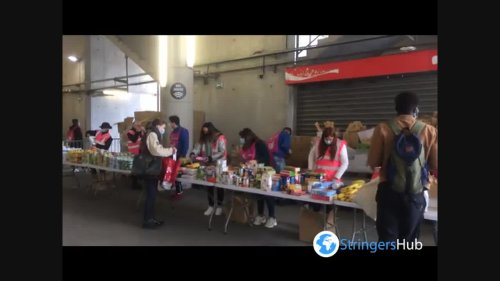 OM stadium becomes a food distribution center for students in Marseille, France 1