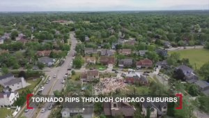 Drone Footage Captures Chicago Suburbs Devastated by 'Extremely Dangerous' Tornado