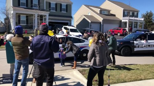 Columbus Neighborhood Celebrates Little Boy's Last Chemotherapy Treatment With Parade