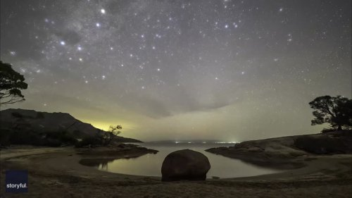 Timelapse Captures Milky Way Glistening Above Tasmania
