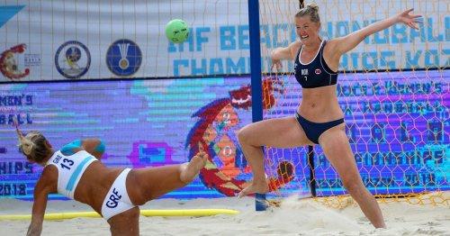 This women's beach handball team was fined for wearing shorts instead of bikinis