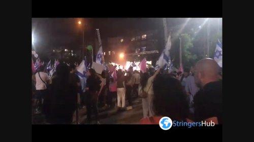 People in Tel Aviv, Israel celebrate end of Netanyahu era 2