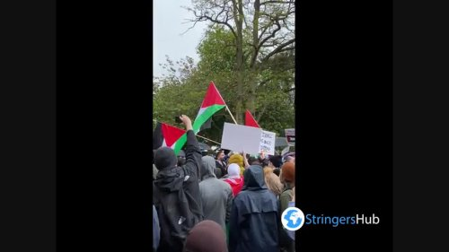 Free Palestine Protest in Manchester, UK 2