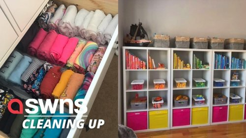 A UK decluttering expert inspired by Marie Kondo is booming with clients including WAGS and TOWIE stars (RAW)