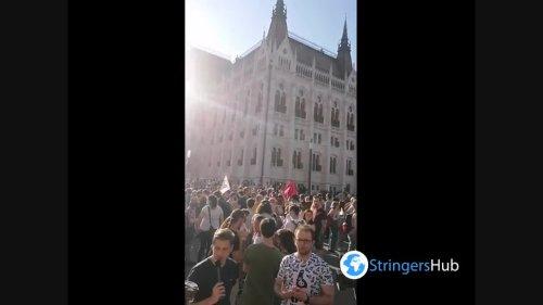 Protest against gay propaganda law in Budapest 2