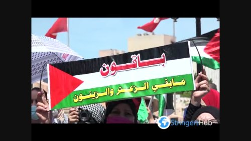 Tunisians rally in support of Palestinians in Jerusalem and Gaza 1