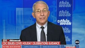 Dr. Fauci Says Fully Vaccinated People Can Enjoy the Holiday Season With Their Family