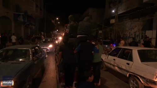 Palestinians Hold Nighttime Protests East of Gaza