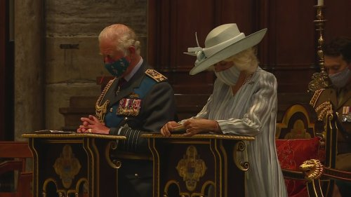 Prince Charles and Camilla attend Battle of Britain service