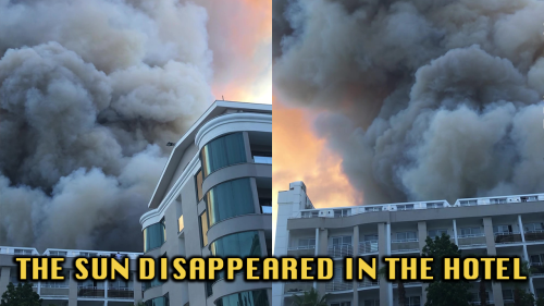 'Turkey Wildfires: Marmaris Engulfed in Darkness as Smoke Clouds Block the Sun'