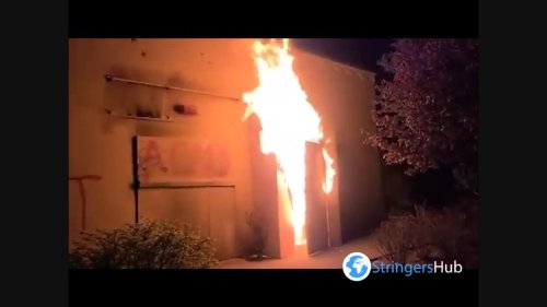 US: Police Building Set On Fire In North Portland During Daunte Wright Protest