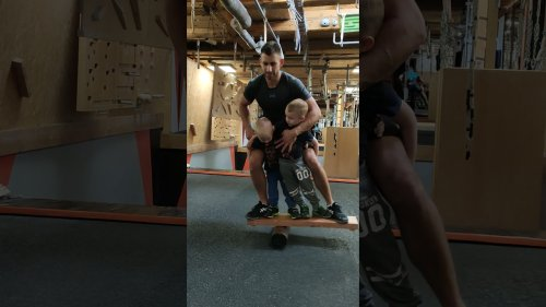 Amazing Dad Bonds With Kids on Balance Board