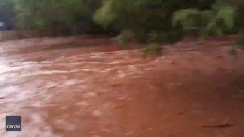 Heavy Rainfall Causes Flooding in Central Arizona