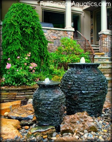 Paradise Ponds -Stacked Slate Urns cover image