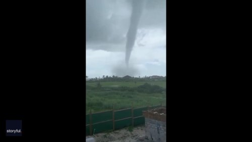 'That's Pretty Big': Waterspout Spotted Off the Bahamas' Great Guana Cay