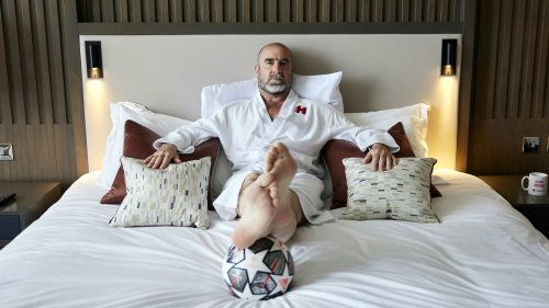 Eric Cantona swaps goals for clean sheets by becoming a hotel BUTLER