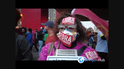 Thousands protest in Sao Paulo, Brazil against racism and police violence