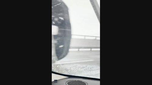 Wind Blows Truck Over on Bay Area Bridge