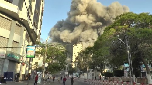 Tower Collapses Amid Israeli Airstrikes